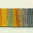 Textile Thread Wrap -  Sunset by lilybowlerart