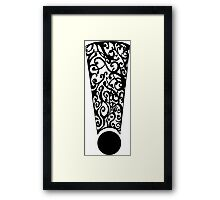 Exclamation #1 Framed Print