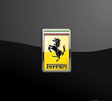 Ferrari 3D Badge-Logo on Black by Captain7