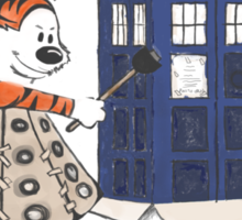 Doctor and Daleks Sticker