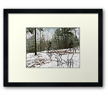 snow 50 Framed Print