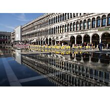Venice, Italy - St Mark's Square Symmetry Photographic Print