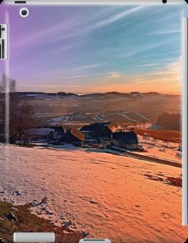 Colorful winter wonderland sundown | landscape photography by Patrick Jobst