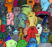 Bogeymen from around the world by patusiki