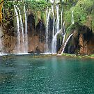Waterfalls in Plitvice National Park Croatia by Arie Koene