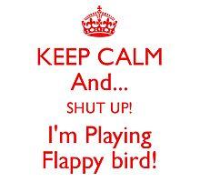 Flappy Bird White Photographic Print