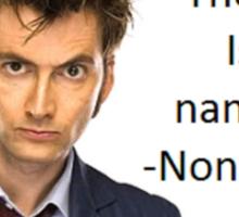 Non-Whovian Question Sticker