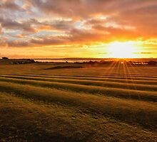 Sunset Knott End Golf Course by FyldePhotos