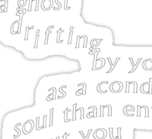 Crouching Tiger Hidden Dragon - I Would Rather Be A Ghost Sticker
