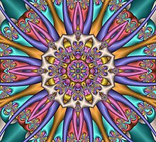 Decorative Kaleidoscope flower, fractal artwork by walstraasart