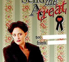 Irene Adler Valentine's Day Card - Send Me A Treat by thescudders