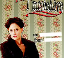 Irene Adler Valentine's Day Card - Misbehave by thescudders