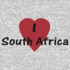 I Love South Africa T-shirt & Sticker by deanworld