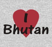 I Love Bhutan T-Shirt Top by deanworld