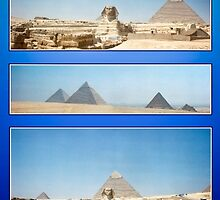 Sphinx and Pyramids of Giza by missmoneypenny
