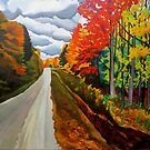 """115. """"Tunnel of Trees, Michigan."""" by amyglasscockart"""