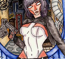 Motoko Kusanagi from Ghost in the Shell by Jazmine Phillips
