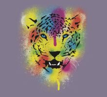 POP Tiger - Colorful Paint Splatters and Drips - Stained Canvas Art Prints by Denis Marsili