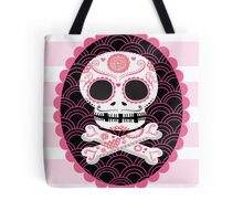 Pink Sugar Skull Vector Tote Bag