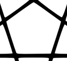Satanic Black Pentagram Sticker
