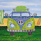 Kombie Campers (Blue) by Lisa Frances Judd~QuirkyHappyArt