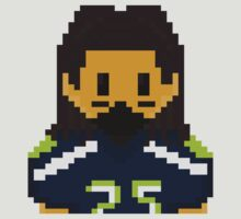 8Bit Richard Sherman Seattle Seahawks - 3SQUIRE by CrissChords