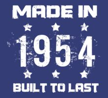 Made In 1954 Birthday T-Shirt by thepixelgarden