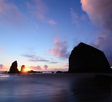 Sunset at Cannon Beach by Jennifer Hulbert-Hortman