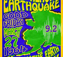 1960'S RETRO POSTER - GREAT ALASKA EARTHQUAKE 9.2    by Ed Rosek