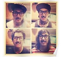 Pierce The Veil with Mustaches! Poster