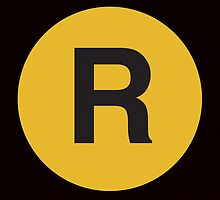 R Train Placard by axemangraphics