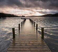 Coniston Water Stormy Sunset by James Grant