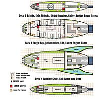 SpaceShip Plan Mid Range Cargo VIRAGO CLASS by Radwulf