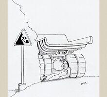 Father's day cards - funny trucker cartoon by Sagar Shirguppi