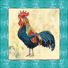Tiffany Rooster 2 by Debbie DeWitt