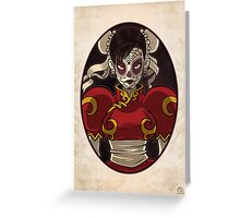 Chun Li Skull Girl Greeting Card