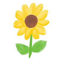 Sunflower - Watercolor Photographic Print