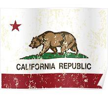 California Republic Grunge Distressed  Poster