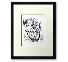 Palmreading - Vintage palmistry - Fortunetelling - NewAge - Tarot - Psychic Framed Print