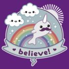 Believe in Narwhals by sugarhai