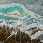 Turbulence - the wild ocean by nancyqart