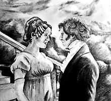 Pride and Prejudice watercolor by Creative Images