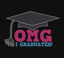 OMG I graduated with mortar board graduation hat pink by jazzydevil
