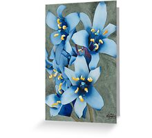 Blue Flowers Greeting Card