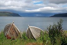 Boats ashore (Olderfjord - Norway) by Arie Koene