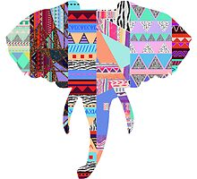 Elephant tribal print by tarawhyley