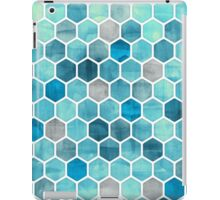 Blue Ink - Watercolor hexagon pattern iPad Case/Skin