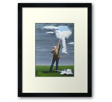 Cloud picker Framed Print