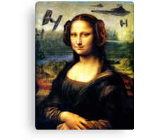 Mona Lisa versus the Empire Canvas Print