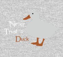 """Never trust a duck."" Kids Clothes"